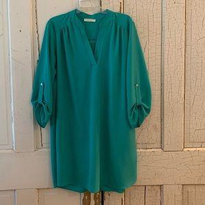 Entro green tunic dress Size 2X